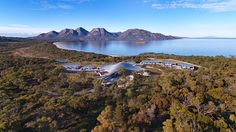 Saffire Freycinet - Tasmania, Australia A UFO-like structure nestled on the pristine shores of Tasmania's East Coast, Saffire Freycinet accommodates its guests in sprawling, luxurious suites and. Top 10 Hotels, Hotels And Resorts, Best Hotels, Luxury Hotels, Luxury Travel, Tasmania, Patagonia, Costa, Secluded Beach