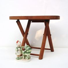 TV trays - Wood Folding Stool Child Stool Reading Chair Time Out Bench Step Stool Brown Caramel