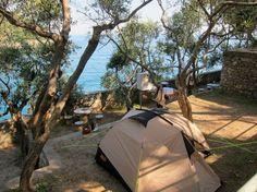 Camping am Meer Maralunga, Ligurien