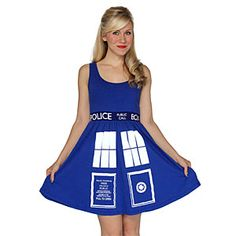 ThinkGeek :: TARDIS A-line Dress. Wore this to PlayerCon!