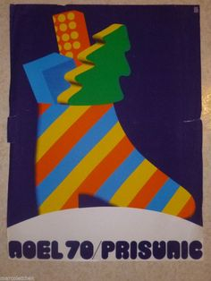 Affiche Prisunic Noel 1970 in Collections, Calendriers, tickets, affiches, Affiches pub: anciennes | eBay