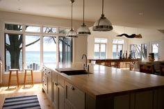 Kitchen counter & open floor plan to living room