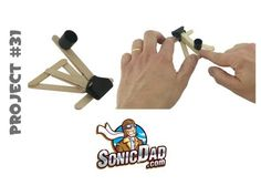 Mini Binder Clip Catapult - SonicDad Project #31