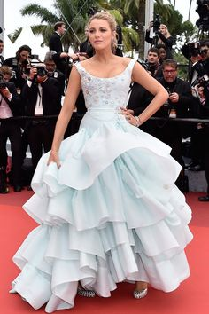 13 May Blake Lively had a Cinderella moment in a voluminous ice-blue Vivienne Westwood Couture gown for the premiere of Slack Bay (Ma Loute). - HarpersBAZAAR.co.uk