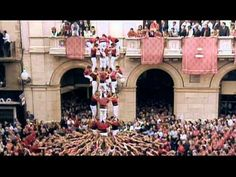 Human towers (Castells) in Catalonia, Spain.