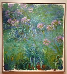 Claude Monet Agapanthus - personal favourite painting of all time