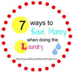 Today I'm sharing some of my money saving tips with you guys. I have 7 ways to cut down on the amount I spend when doing the laundry. Could you add anything else to the list?!