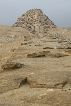 Ruins of the pyramid of Sahure, an Ancient Egyptian pharaoh, the second ruler of the Fifth Dynasty, who reigned for about 12 years in the early 25th century BC.