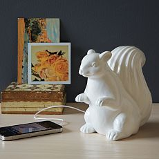 Somebody at West Elm loves squirrels as much as I do! Ceramic Squirrel Speaker $49