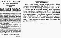 Genealogical Gems: On This Day: Tea store opens