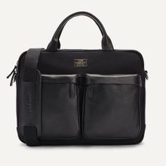 Carry your laptop in style! The Men's Series Briefcase Black Canvas Leather Laptop Bag is a top 10 member favorite on Tradesy. Save on yours before they're sold out! Leather Laptop Bag, Leather Briefcase, Leather Backpack, Best Memorial Day Sales, Urban Bags, Black Series, Well Dressed Men, Black Canvas, Stylish Men