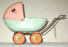 Toy DOLL Easter CARRIAGE by WYANDOTTE