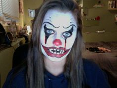 Scary Clown makeup! Easy to do!