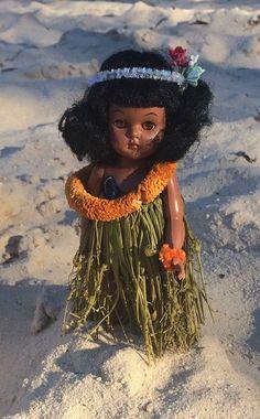 Doll, Hawaiian, Hula, Pam, Vintage, 8 Inch Doll, 1950s,