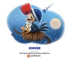 Daily 1340. Dodoze by Cryptid-Creations.deviantart.com on @DeviantArt