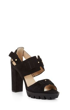 Designer Clothes, Shoes & Bags for Women Black Block Heel Sandals, Block Heels, Shoes Sandals, Winter Accessories, High Heels, Runway, Purses, Shoe Bag, Boots