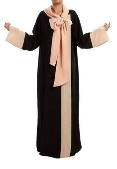 Riyadh: Lum Riyadh  Soft - Soft - Light crepe abaya with peach chiffon >> Explores our Deals!