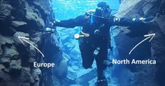 dive between the North American and Eurasian Continental Plates in Silfra, Iceland