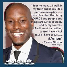 LOVE this from #Tyrese #TyreseGibson!