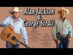 George Strait, Alan Jackson Greatest hits (Full album) - Best of George . Country Music Playlist, Country Music Videos, Country Music Artists, Country Singers, Classic Country Songs, Best Country Music, Country Music Quotes, Guitar Songs, Music Songs