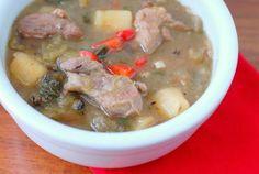 Green Chile Stew | Boulder Locavore #football #stew #spicy