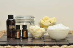 DIY Whipped Body Butter - Add geranium, lavender, and melaleuca for psoriasis or eczema.
