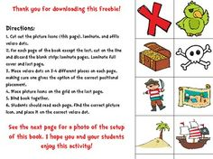 Pirate-Themed Interactive Book: Positional Words and Phrases - Sped-Ventures - TeachersPayTeachers.com