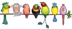 3D Animated GIF Glitter Graphics Birds | Dividers » Animals » birds