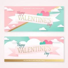 Valentine Day Special, Happy Valentines Day, Vector Free Download, Banner Vector, Print Wallpaper, Banner Design, Pastel, Banners, Illustration