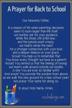 A Prayer for Back to School ; back to school prayer Power Of Prayer, My Prayer, Prayer Ideas, Prayer Room, Daily Prayer, Bible Quotes, Bible Verses, Scriptures, Prayer Quotes