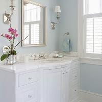 BHG - bathrooms - white and blue bathroom, master bath, master bathroom, white and blue master bath, white and blue master bathroom, blue ba...