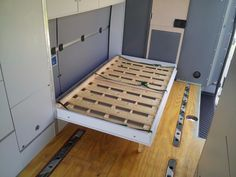 59 Sprinter Van Conversion Interior Design – Vanchitecture Murphy Bed in a Van Cargo Trailer Camper Conversion, Cargo Trailer Conversion, Sprinter Van Conversion, Cargo Trailers, Utility Trailer, Travel Trailers, Camping Car Sprinter, Sprinter Camper, Mercedes Sprinter