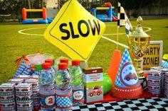 Guest table from a Race Car Birthday Party on Kara's Party Ideas   KarasPartyIdeas.com (24)