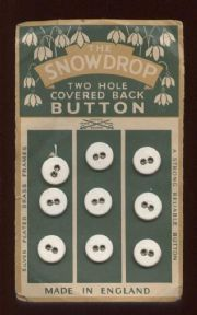 Vintage Sewing Fashion Set of Nine The Snowdrop 2 Hole Covered Back Buttons on Card, Circa 1930s £4 #FollowVintage