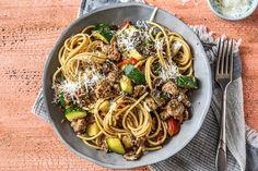 Spaghetti integrale met varkenssaucijs