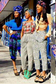 This present day style is called African Street style. This style is based off the African culture involving the Dashiki prints, head wraps, and natural hair. This style goes back to the 1960s through 1970s during and right after the Civil Rights Movement African Americans embraced their ethnic style. (4/6/15) AMM