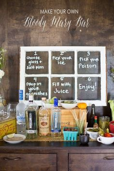 umm.... I think a bloody mary bar might be necessary for the group of women that will be there!!! I want all of these. Provide instructions. | 33 Next-Level Tips For A Bloody Mary Bar