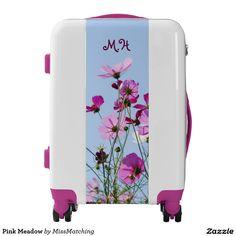 Purple Meadow Pretty Personalized Luggage