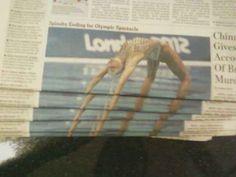 This disturbing newspaper arrangement.