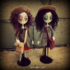 Gothic Art Dolls by Dark Manor Dolls: Emma & Flora