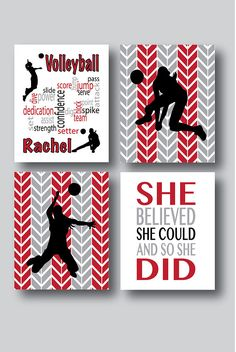This is a wordle craft that my daughter and i made on tagxedo set of 4 prints volleyball decor volleyball art volleyball publicscrutiny Choice Image