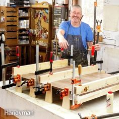 How to Clamp: A professional woodworker shows you simple clamping techniques that make stronger glued joints Read more: http://www.familyhandyman.com/woodworking/how-to-clamp/view-all