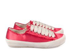 Parson, 'phat' lace sneaker in pink red satin. | Pedro Garcia Shoes Spring-Summer 2015 | Made in Spain