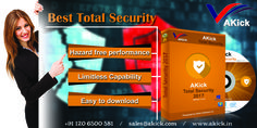 #Akick introduces the #BestTotalSecuritySoftware  for the protection of your computer from any malware or virus. It can protect your PC from Ransomware too. This antivirus can be downloaded from www.akick.in.