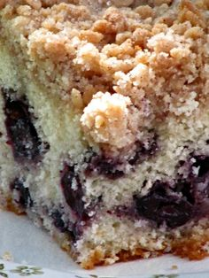Pine Cones and Acorns: Blueberry Coffee Cake with Crumble Topping