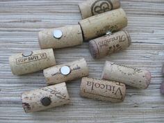 Wine Cork Magnets  upcycled recycled adorable by TheWoodenBee, $8.00