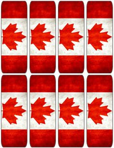 Canada Day Bookmarks. Free to use and free to share for personal use. <3