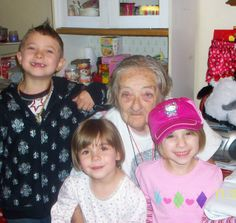 Meemaw with Devin, Teygan and Laikyn