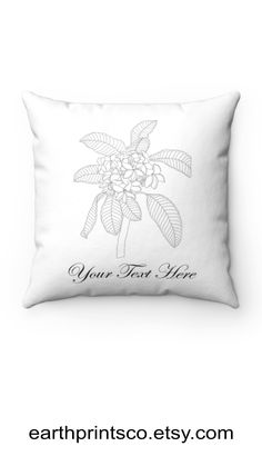 """Personalized black and white floral pillow cover, floral throw pillowcase, minimalist square pillow case, ixora, magnolia, orchid, pitcher plant, plumeria, auricula ✻ Pillow cover / Pillowcase ✻ Black and white floral design ✻ Choose from 7 designs: ixora, magnolia 1, magnolia 2, orchid, pitcher plant, plumeria, auricula ✻ Available 4 sizes: 14""""x14"""", 16""""x16"""", 18""""x18"""", 20""""x20"""" ✻ The listing is for one pillow cover. Choose the design and size for your pillow cover upon purchase Floral Throws, Floral Pillows, Square Pillow Covers, Pitcher Plant, Orchid, Magnolia, Pillow Cases, Floral Design, Minimalist"""