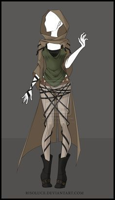 (CLOSED) Adoptable outfit Auction - 5 by Risoluce.deviantart.com on @DeviantArt